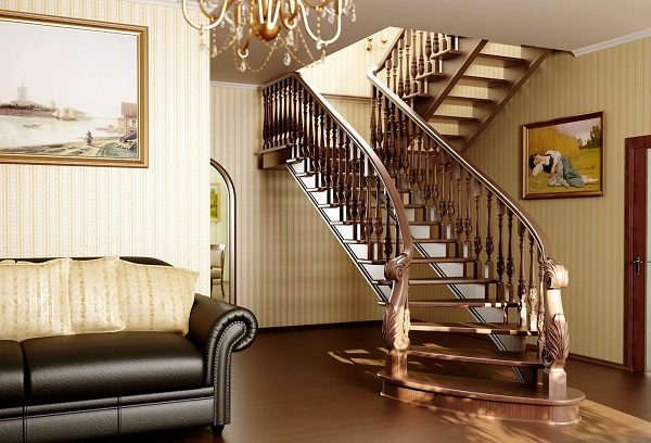 Фото дубовой лестницы