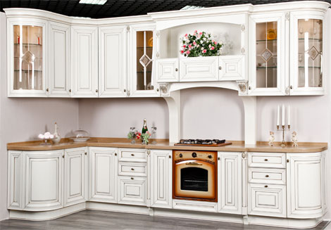 Элитная деревянная кухня под заказ