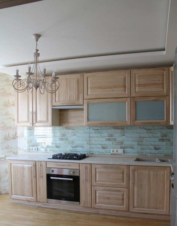 Кухонный гарнитур из массива граба