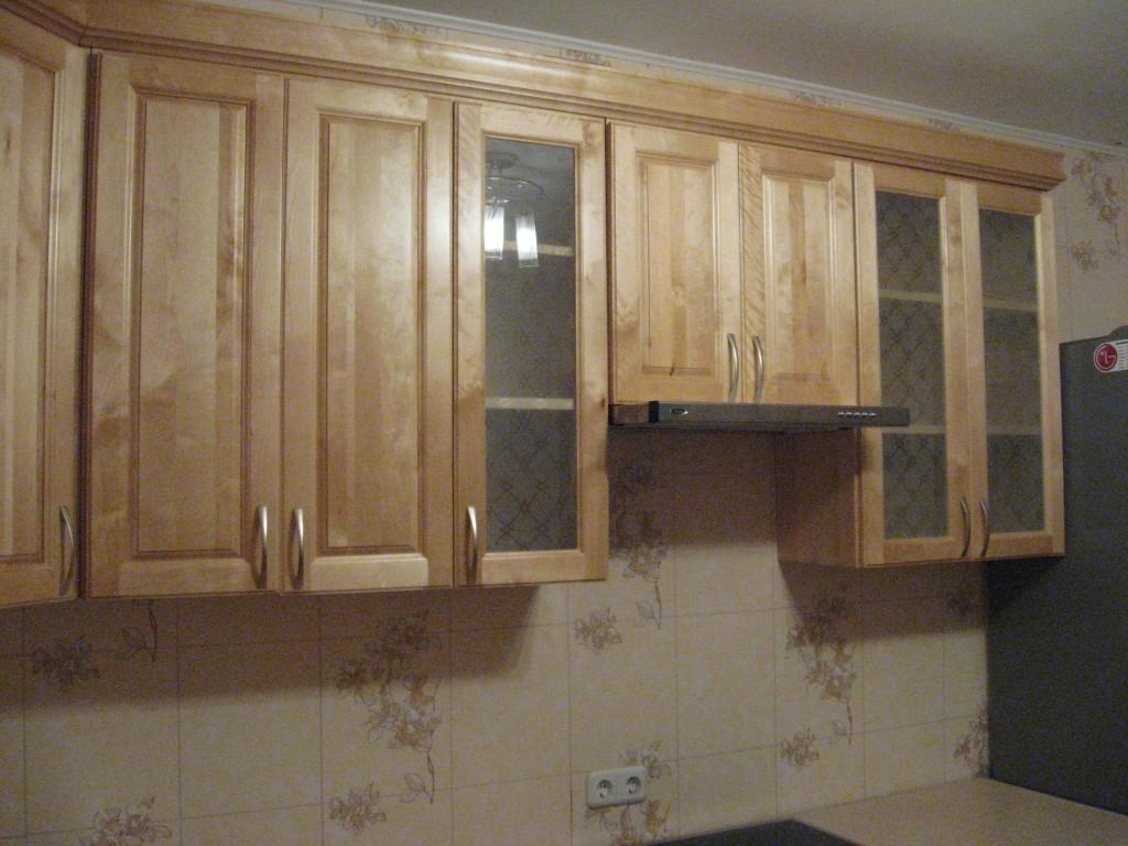 Кухня угловая из 100% массива березы.